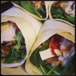 Sweet Chilli Tempeh Wrap (V)